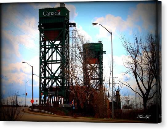 Ham Canvas Print - Hamilton Lift Bridge by FedcoR Productions