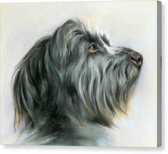 Canvas Print featuring the pastel Hamish The Wolfhound by MM Anderson