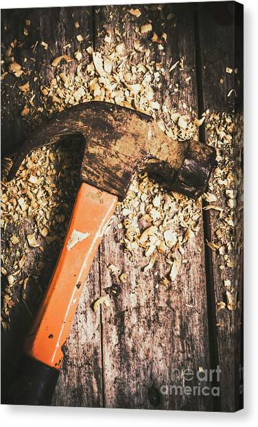 Repairs Canvas Print - Hammer Details In Carpentry by Jorgo Photography - Wall Art Gallery