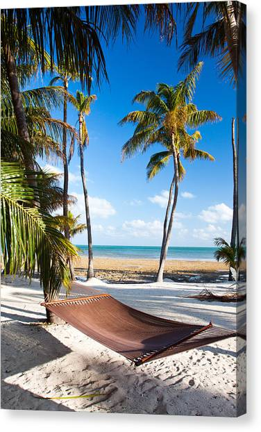 Hammock In Paradise Canvas Print