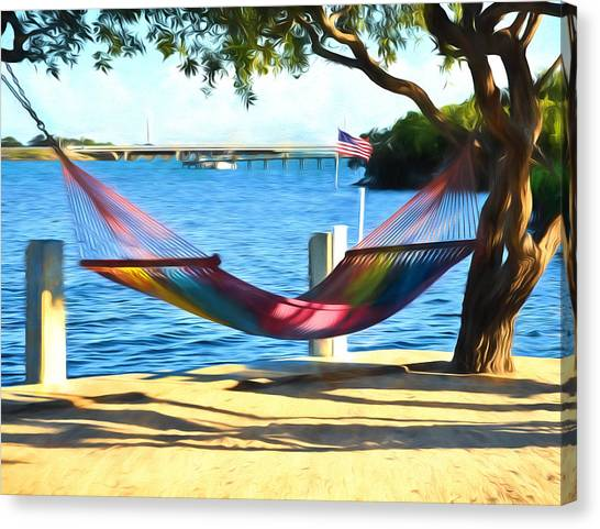 Atlantic 10 Canvas Print - Hammock Time In The Keys by Ginger Wakem