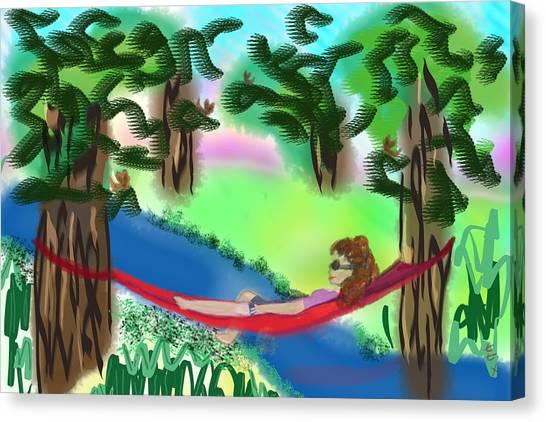 Hammock Under The Chihuahua Trees Canvas Print