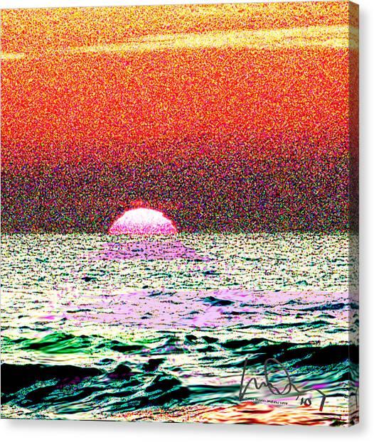 Hamriyah Sunset 2010 Canvas Print by Mike Shepley DA Edin