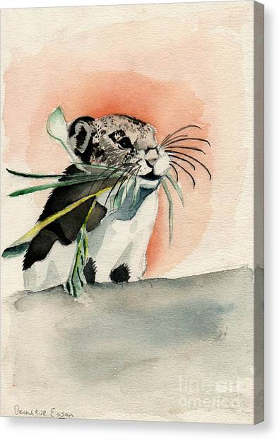 Watercolor Pet Portraits Canvas Print - Hamster by Genevieve Esson