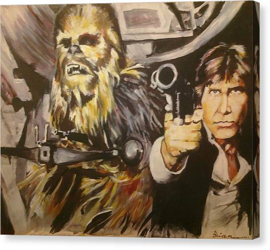 Han And Chewie Canvas Print by Brian Child