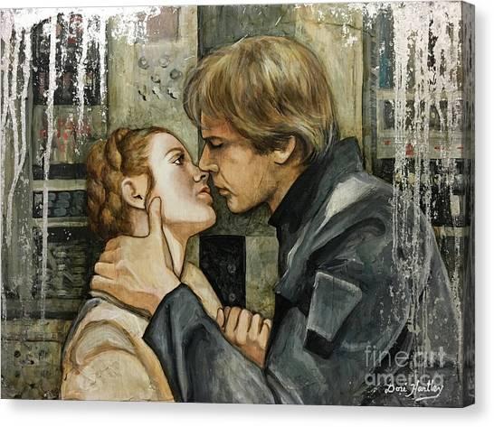 Leia Organa Canvas Print - Han And Leia by Dori Hartley