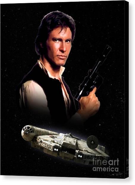 Han Solo Canvas Print - Han Solo by Paul Tagliamonte