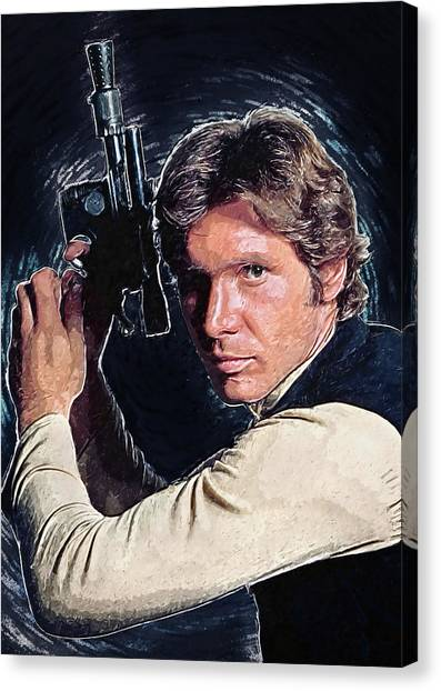 C-3po Canvas Print - Han Solo by Zapista