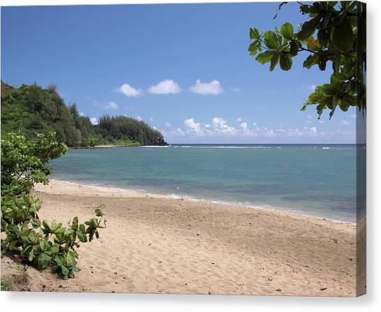 Hanalei Bay Beach Canvas Print