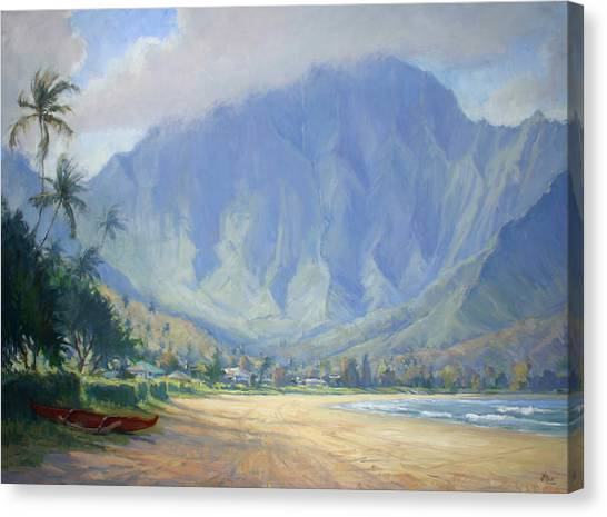 Hawaii Canvas Print - Hanalei Bay Morning by Jenifer Prince