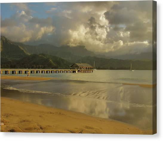 Hanalei Bay Reflections Canvas Print