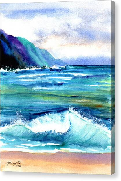 Hanalei Sea Canvas Print