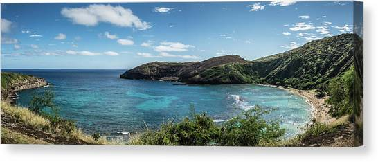 Snorkling Canvas Print - Hanauma Bay by Kendall-Chaney Photography