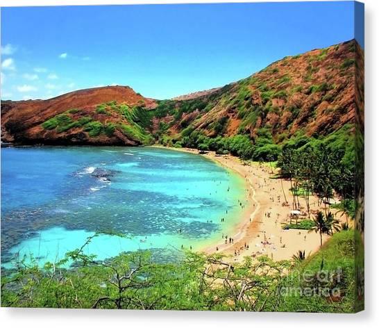 Hanauma Bay Nature Preserve Canvas Print