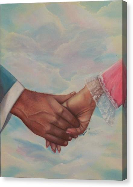 Hand In Hand Forever Canvas Print
