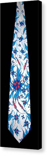 Hand Pinted Tie Canvas Print