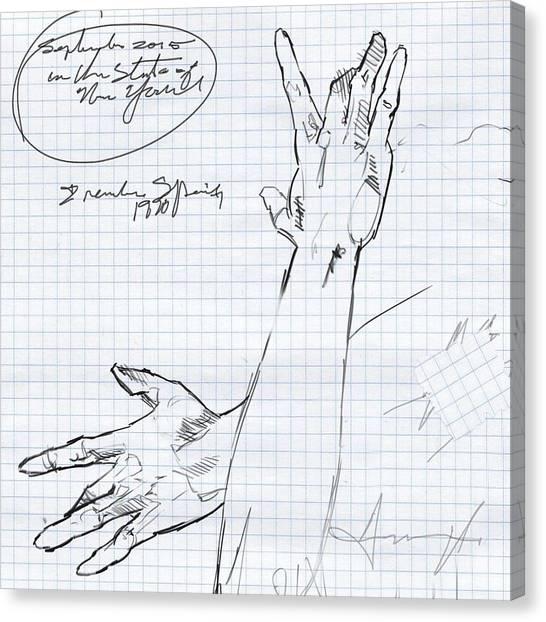 Flamenco Canvas Print - Hand Study by H James Hoff