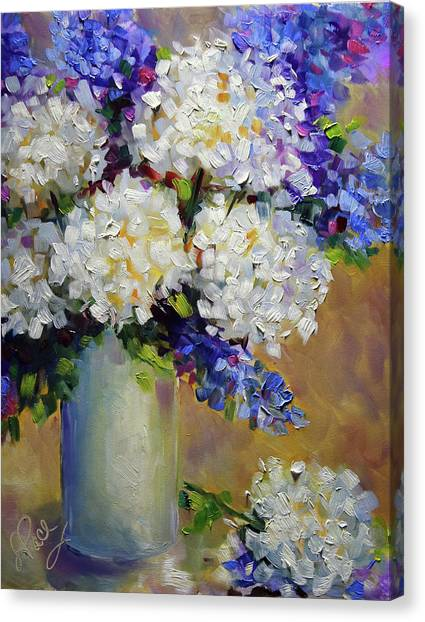 Canvas Print - Handful Of White by Laurie Pace