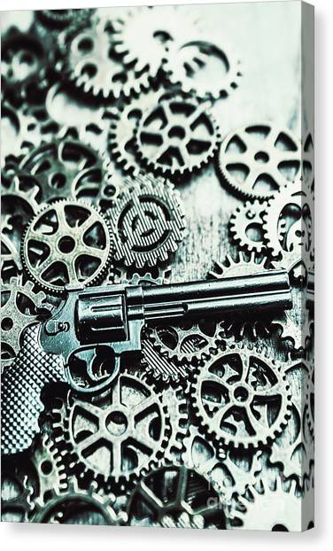 Nobody Canvas Print - Handguns And Gears by Jorgo Photography - Wall Art Gallery