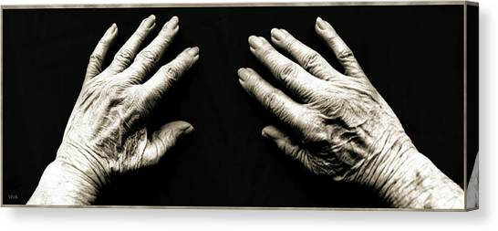 Hands  -  Stark  Reality - Photo  Canvas Print