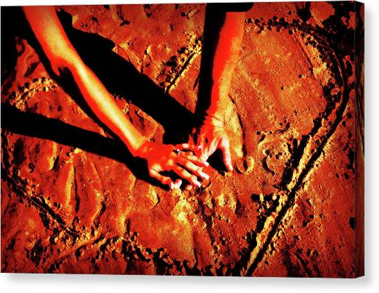 Hands In Love Canvas Print