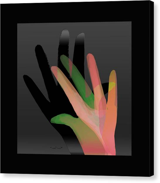 Hands In Pair Canvas Print