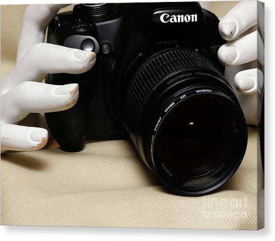 Hands In Still Life  Canvas Print by Steven Digman
