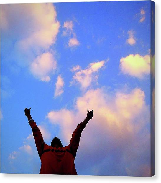 Hands In The Air Canvas Print