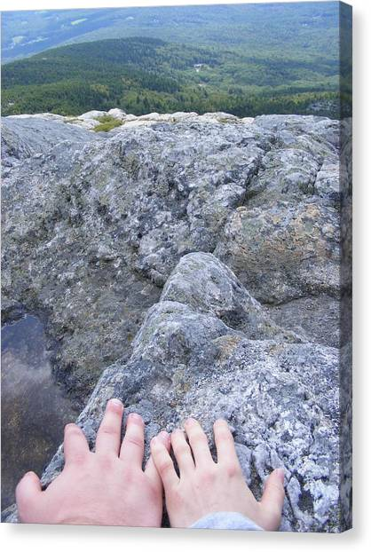 Hands On The Mountaintop Canvas Print by Alison Heckard