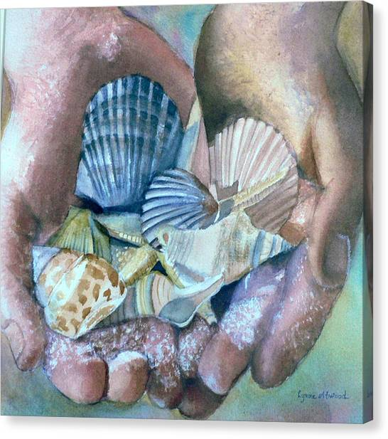 Hands With Shells Canvas Print