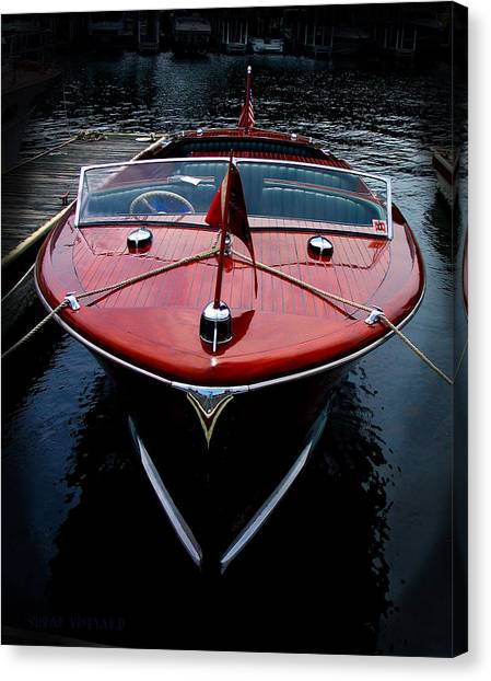 Handsome Wooden Boat Canvas Print