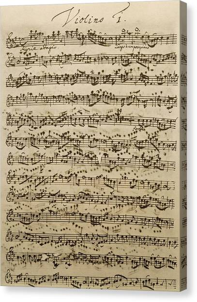 Compose Canvas Print - Handwritten Score For Mass In B Minor by Johann Sebastian Bach