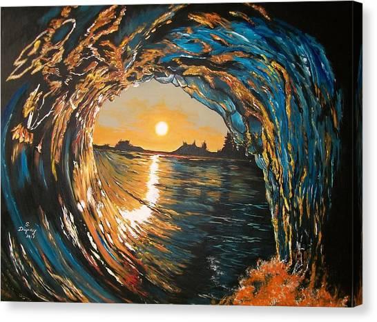 Hang Ten In Tofino Canvas Print