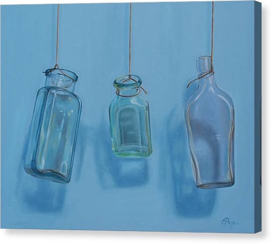 Hanging Bottles Canvas Print
