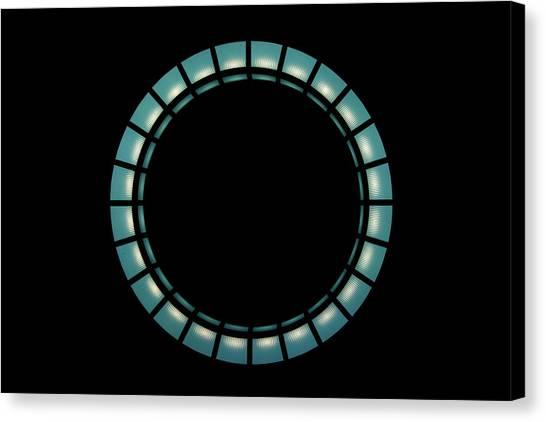 Hanging Light Circle Canvas Print