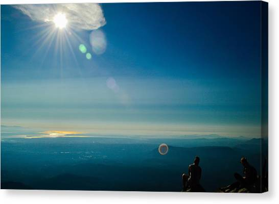 Hanging Out On The Summit Canvas Print