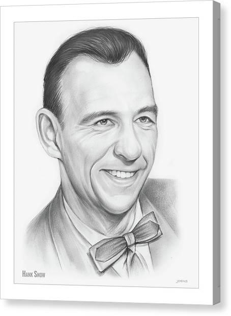 Famous Artists Canvas Print - Hank Snow by Greg Joens