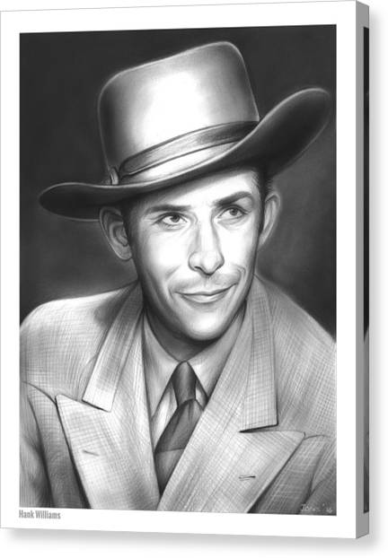 Hank Williams Canvas Print