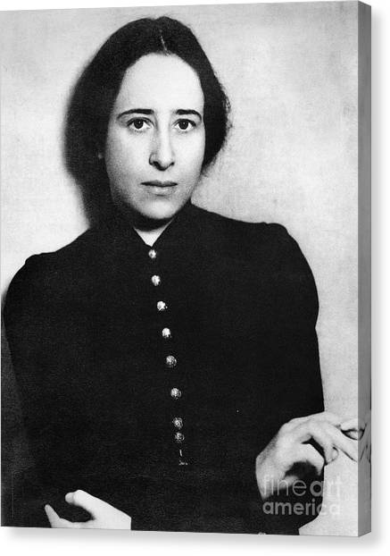 Judaism Canvas Print - Hannah Arendt (1906-1975) by Granger