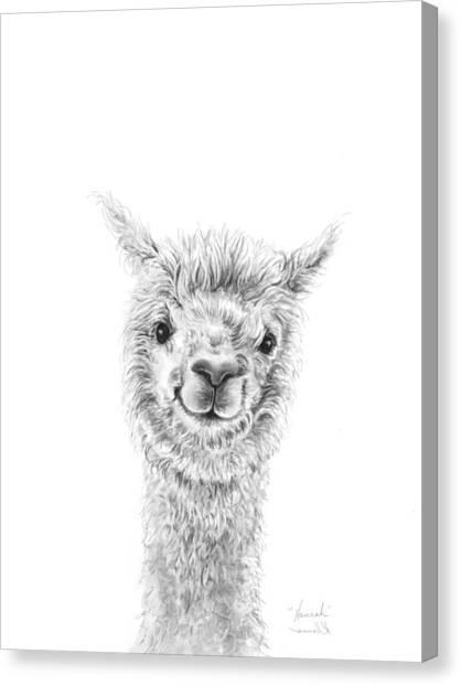 Alpacas Canvas Print - Hannah by K Llamas