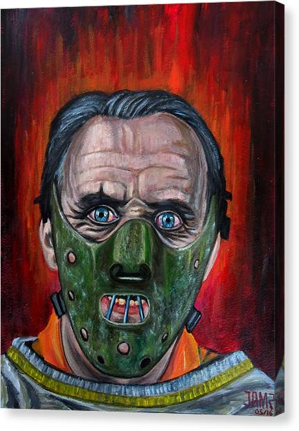Silence Of The Lambs Canvas Print - Hannibal Lecter by Jose Mendez