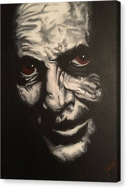 Anthony Hopkins Canvas Print - Hannibal Lecter by Kyle Jewell
