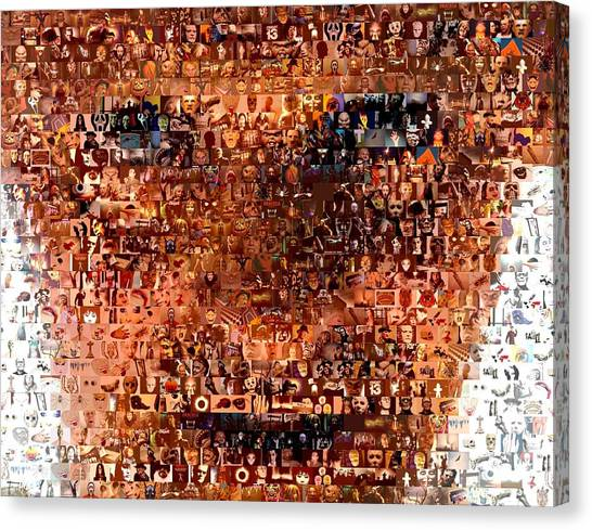 Silence Of The Lambs Canvas Print - Hannibal Lecter M.d. Mosaic by Paul Van Scott