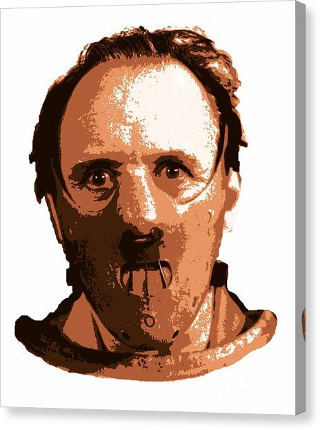 Anthony Hopkins Canvas Print - Hannibal The Cannibal by Pd