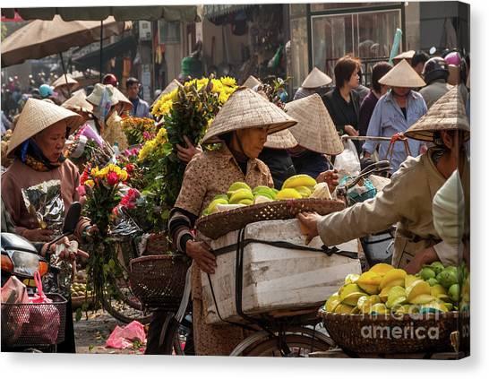 Hanoi Market 02  Canvas Print
