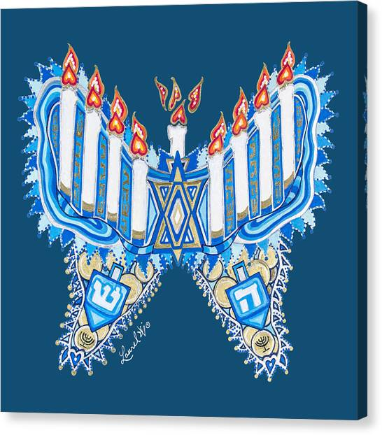 Hanukkah Butterfly Canvas Print