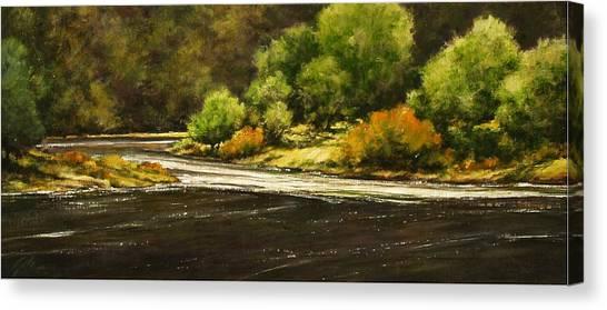 Canvas Print - Lewis River Lagoon by Jim Gola