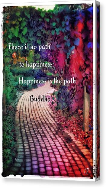 Happiness Path Canvas Print