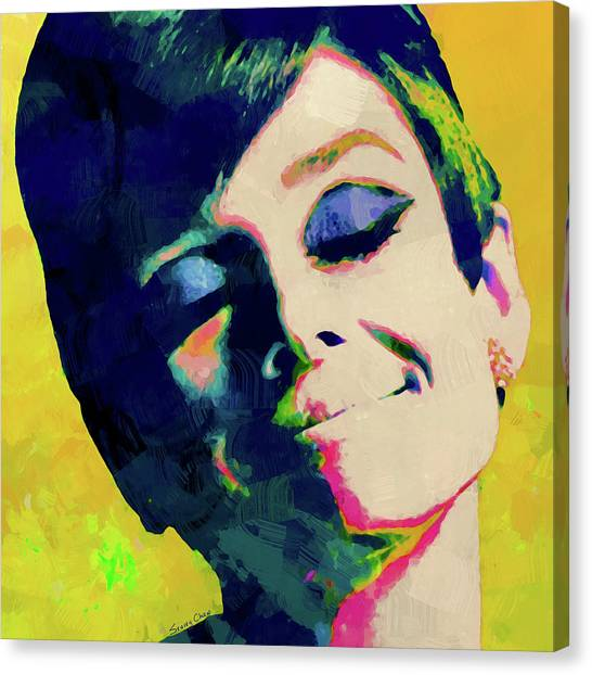 Hepburn Canvas Print - Happiness by Stacey Chiew
