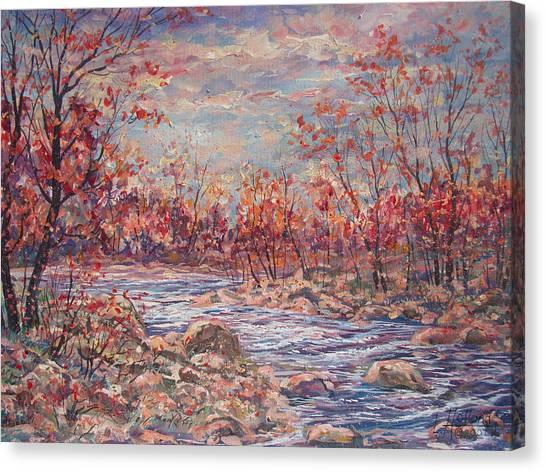 Happy Autumn Days. Canvas Print